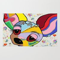 chihuahua Area & Throw Rugs featuring Chihuahua by EloiseArt