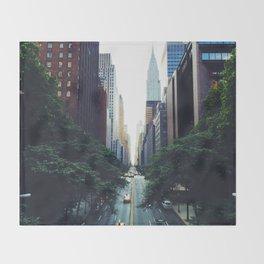 New York City Street Skyscapers Travel Wanderlust #tapestry Throw Blanket
