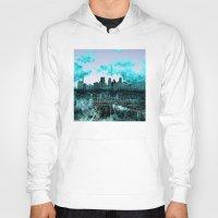 minneapolis Hoodies featuring minneapolis city skyline by Bekim ART