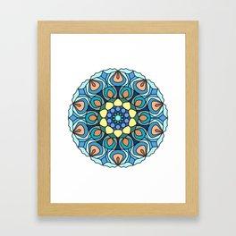 nautical mandala Framed Art Print