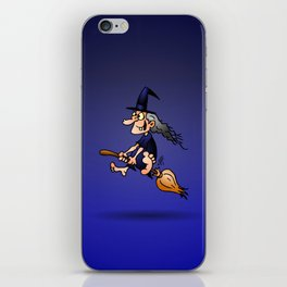Witch on a broom iPhone Skin