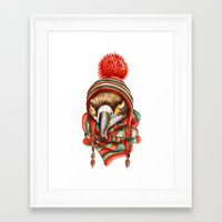hawk Framed Art Prints featuring Hawk by Julia Badeeva
