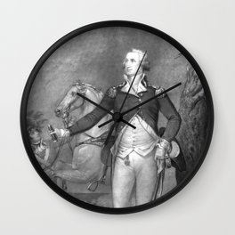 General George Washington At Trenton Wall Clock