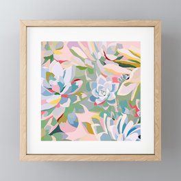 summer succulents Framed Mini Art Print