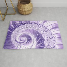 Ultra Violet Luxe Spiral Pattern | Trendy Color of the Year 2018 Rug