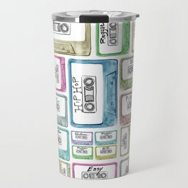 Tape Mix 2 Vintage Cassette Music Collection Travel Mug