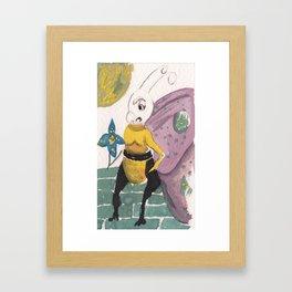 Wrong flower Framed Art Print