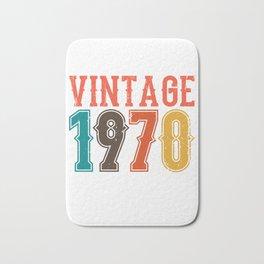 Vintage 1970 Birthday Gift Idea Bath Mat