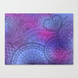 colorful pattern with mandalas Canvas Print