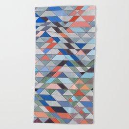 Triangle Pattern No. 7 Diagonals Beach Towel