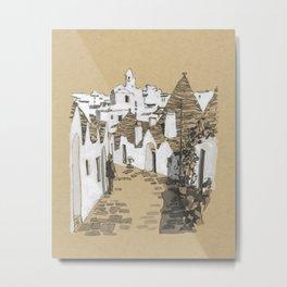 Alberobello Trulli, Italy Metal Print