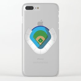 Baseball Stadium Clear iPhone Case