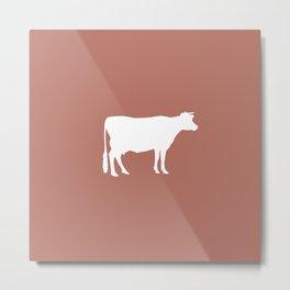 Cow: Rust Red Metal Print