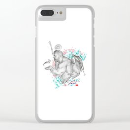Friends Not Food Clear iPhone Case