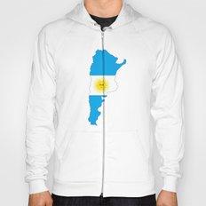 Argentina flag map Hoody
