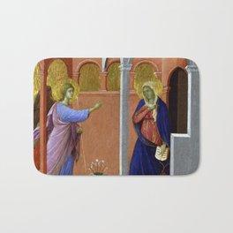 Duccio di Buoninsegna The Annunciation Bath Mat