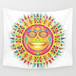 olmec tribal sun Wall Tapestry