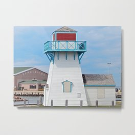 Boarded  Up Lighthouse in Summerside Metal Print