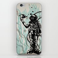 diver iPhone & iPod Skins featuring DIVER by taniavisual