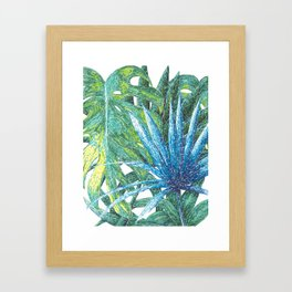 Philodendron & Flora Framed Art Print