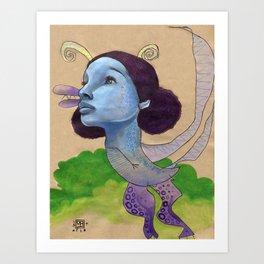 Blue Dragon Art Print