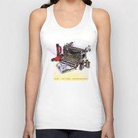 typewriter Tank Tops featuring Typewriter by Nancy L. Hoffmann
