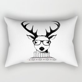 Hipster deer Rectangular Pillow