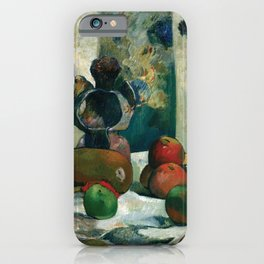 Paul Gauguin - Still Life with Profile of Laval (1886) iPhone Case