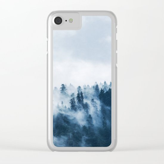 Smoke & Fog #blue Clear iPhone Case