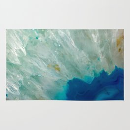 Abstract Blue Quartz Rug
