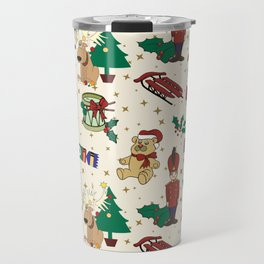 Christmas deer,bear,cat and Nutcracker SB14 Travel Mug