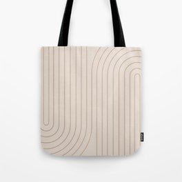 Minimal Line Curvature - Natural Tote Bag