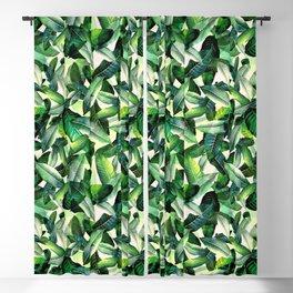 Banana leaf, tropical pattern, jungle nature, palm leaves Blackout Curtain