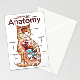 Anatomy of a Cat Stationery Cards
