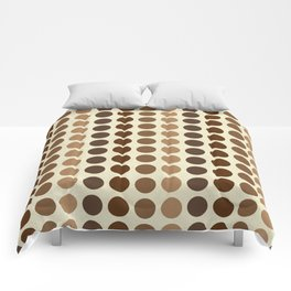Shades Of Brown Polka Dots-Textured Comforters