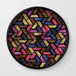 Seamless Colorful Geometric Pattern XIII Wall Clock