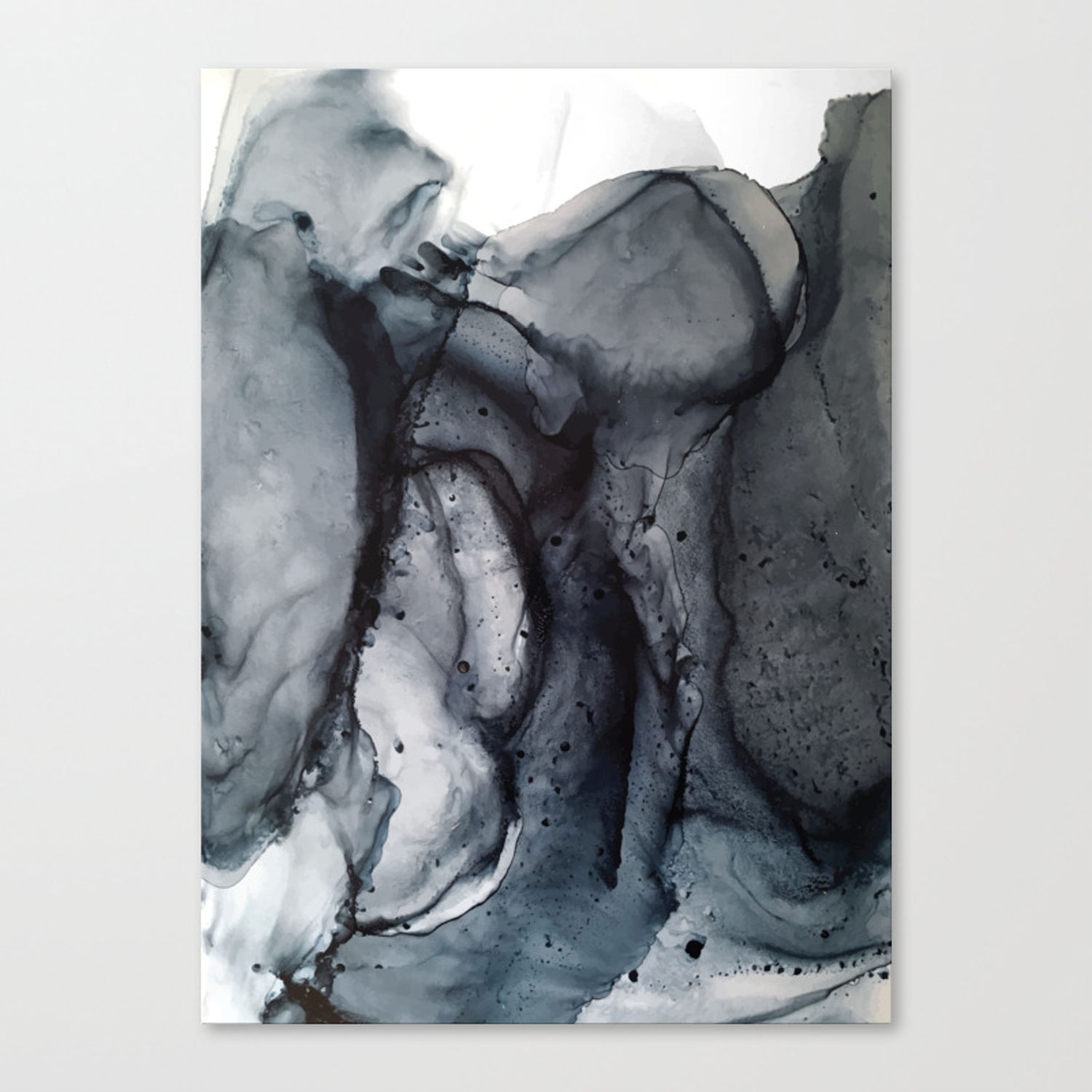 Smoke Diptych Ii Alcohol Ink Painting Canvas Print By Elizabethschulz Society6