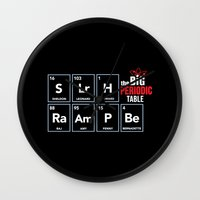 periodic table Wall Clocks featuring The Big (Bang) Periodic Table by Boots