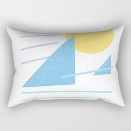 Retro Surf Mountain Rectangular Pillow