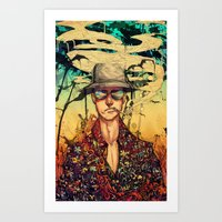 fear and loathing Art Prints featuring Fear and Loathing  by Mony