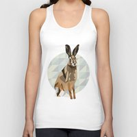 hare Tank Tops featuring Hare by Giulia Zerbini