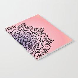 Baesic Sunset Traquil Mandala Notebook
