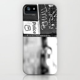 New York Fire and Police black and white iPhone Case