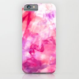 Artsy Abstract Summer Neon Pink Purple Tie Dye iPhone Case