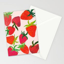 Strawberry Harvest Stationery Cards