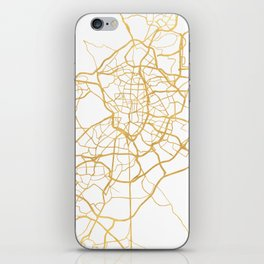MADRID SPAIN CITY STREET MAP ART iPhone Skin
