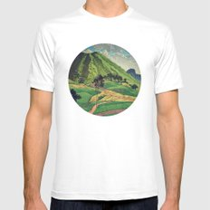 Crossing people's land in Iksey Mens Fitted Tee White LARGE