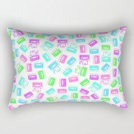 Neon Tape Cassettes  Rectangular Pillow