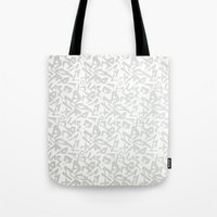 calligraphy Tote Bags featuring Calligraphy  by Johs