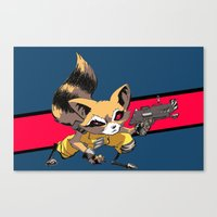 rocket raccoon Canvas Prints featuring ROCKET RACCOON by Walko